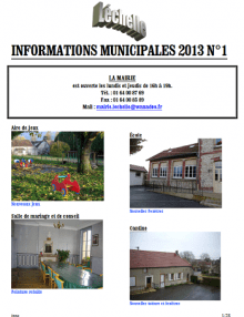 Léchelle info n° 1/2013