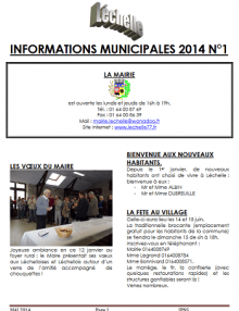 Léchelle info n° 1/2014