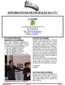 Léchelle info n° 1/2015